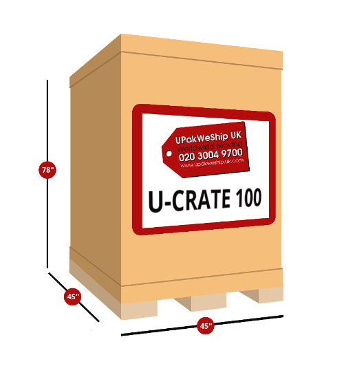 U-CRATE 100 UK Shipping Dimensions