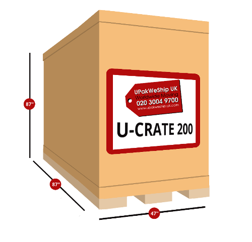 U-CRATE 200 UK Shipping Dimensions